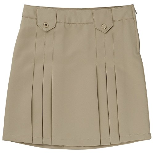 Price comparison product image French Toast Girls Size' Front Pleated Skirt with Tabs, Khaki, 16.5 Plus