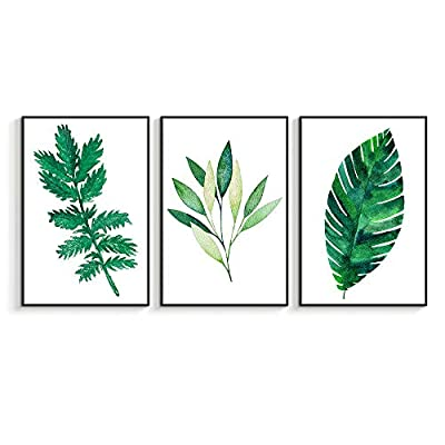 Incredible Design, it is good, Framed for Living Room Bedroom Beautiful Leaves for x3 Panels