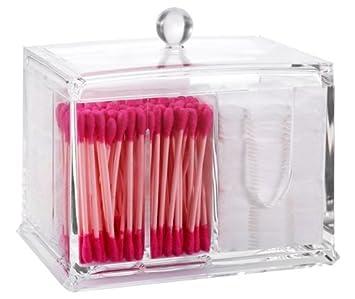 PuTwo portaoggetti da bagno, in acrilico, porta-prodotti per trucco e cosmetici, con 3 scomparti 713262645956