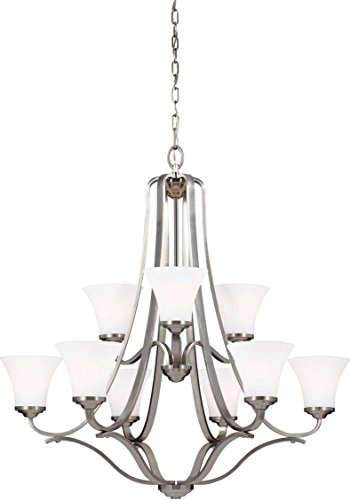 Feiss Nine Light Hamlet F3066/9SN Chandelier, 9, Grey ()