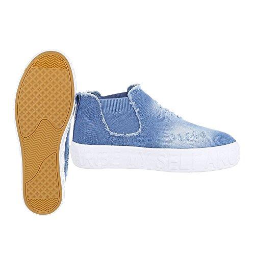 Design 3 Mujer zapatos libre Ital AB tiempo de Hellblau vgnfqqwa