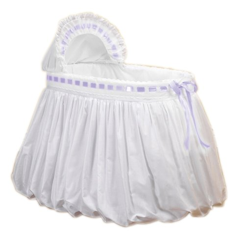 BabyDoll Pretty Ribbon Bassinet Set, Lavender baby doll bedding 2050bas-lav