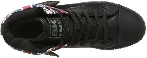 British Sneaker Black Jack Textile Roco Alte Schwarz Union Uomo Black Knights rZqECwr