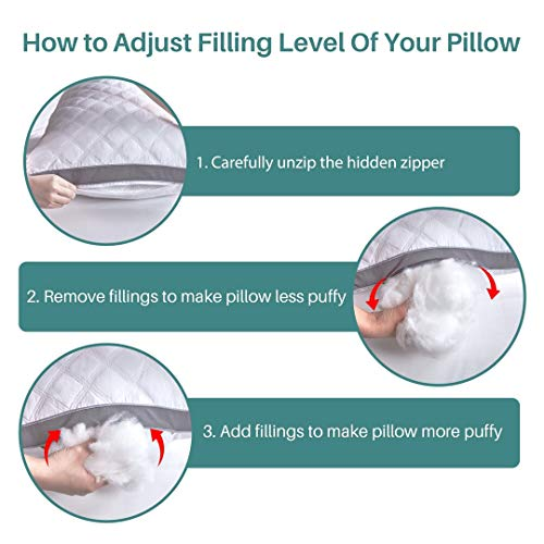 Premium Adjustable Loft Quilted Body Pillows