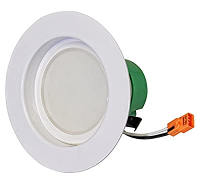 Westgate 12W 4 Inch LED Retrofit Downlight with Integrated Smooth Trim, Dimmable LED Recessed Light Fixture, Damp Location Rated, 120V Energy Star 5 Year Warranty