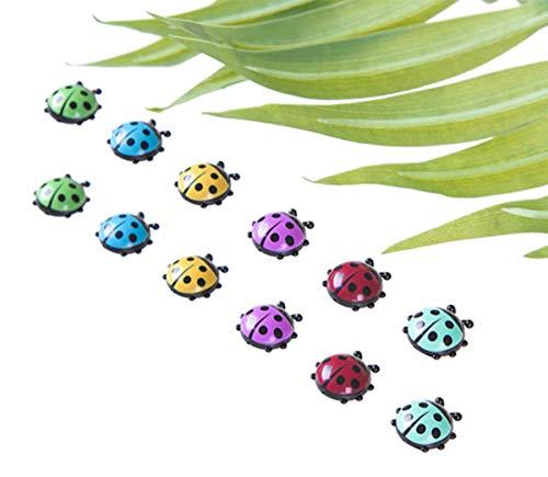 12 Pcs Cute Mini Ladybug Shape Decorative Refrigerator Magnets, Perfect Fridge Magnets for House Office Personal Use