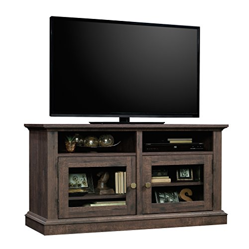 Sauder New Grange Entertainment Credenza, For TV s Up to 50 , Coffee Oak finish