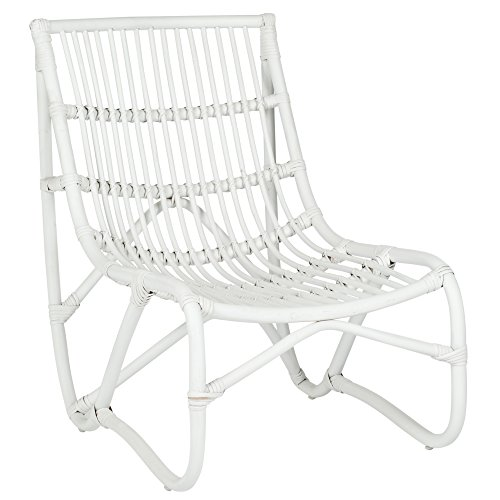 Shenandoah Collection - Safavieh Home Collection Shenandoah White Chair and Ottoman