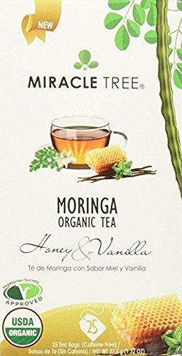 (Miracle Tree Organic Honey Vanilla Moringa Superfood Tea 25 ct (Pack of 3) )