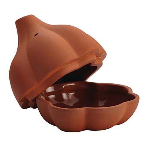 Terra Cotta Brown Glaze (Rachael Ray Cucina Stoneware 4.5-Inch Terra Cotta Garlic Roaster)