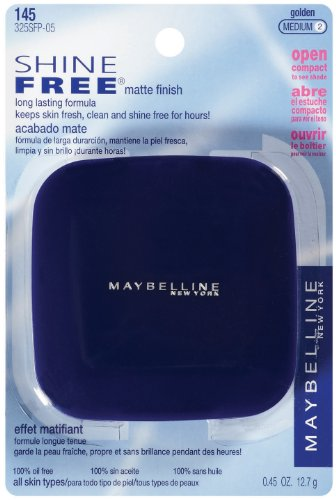 Maybelline New York service gratuit Oil Control Poudre pressée, Golden, Medium 2, 0,45 once