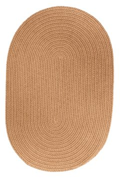 Braided 5' x 8' Oval Solid Color Area Rug (Many Colors Available) (Camel)