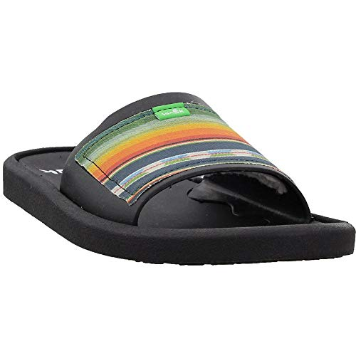 Sanuk Men's Beachwalker Slide Tx Flip-Flop, Black Multi, 13 M US