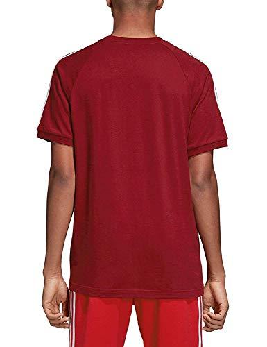 3 stripes Homme T Collegiate T Burgundy shirt Adidas 7wSqAw
