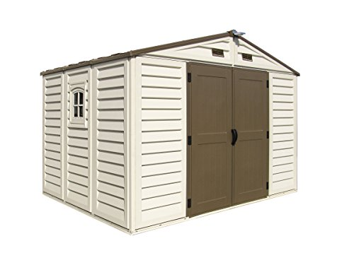 Storage Building Foundation Kit - Duramax Building Products WoodBridge Plus 10 ft. x 8 ft. Vinyl Storage Shed with Foundation