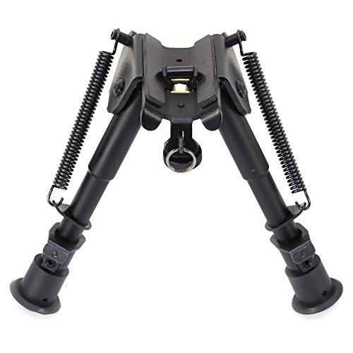 "Hunting Rifle Bipod Adjustable Legs 6"" to 9"" Height Sniper Hunting Rifle Bipod Sling Swivel Mount"