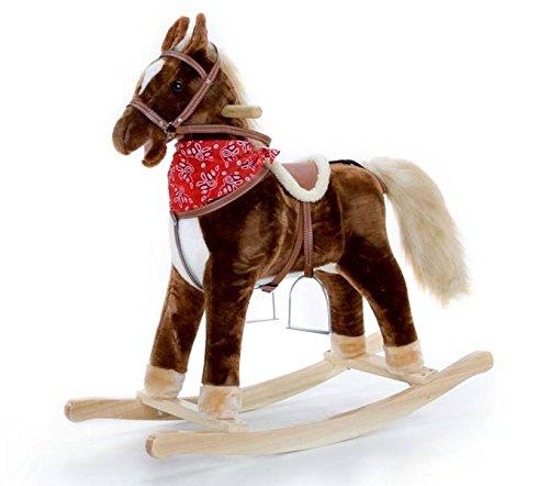 Cheval à bascule Brownie avec 2fonctions bruit et chevaux au galop gewieher, supersüss Cheval Sweety-Toys 90266