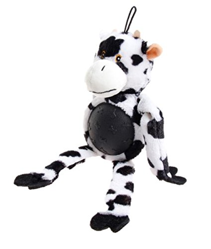 Petface Farmyard Buddies Rubber Tum Cow Dog Toy