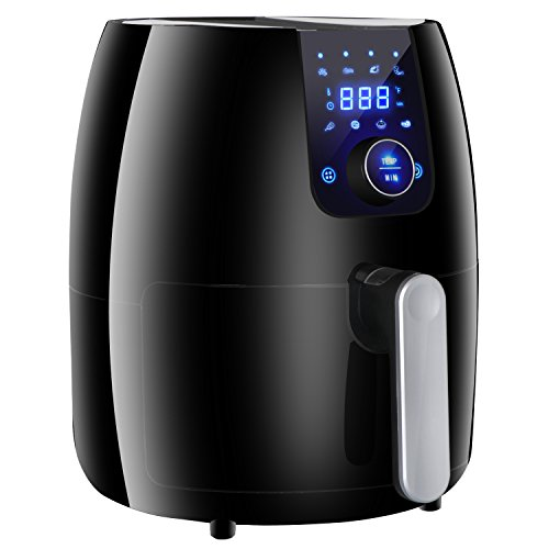 ZenChef 2.2Qt Digital Air Fryer Oven w/LED Display Control, Oil Less Hot Airfryer, Cooking Preset + Preheat Function + Non-stick Basket,ETL Certified (2.2QT)