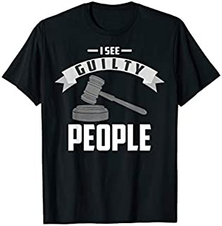 I See Guilty People Presiding Prosecutor Gag Cool Gift T-shirt   Size S - 5XL