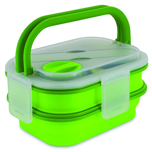 Smart Planet Double Decker Meal Kit Food Container, Green Double Decker Food