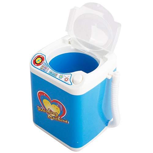 heavKin--Watch Band Super Cute Makeup Brush Cleaner Device Automatic Cleaning Washing Machine Mini Toy (Sweet Love Sticker) (Blue)