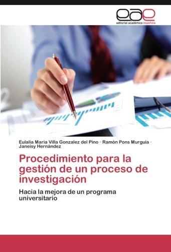 Descargar Libro Procedimiento Para La Gestión De Un Proceso De Investigación Villa Gonzalez Del Pino Eulalia Maria