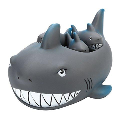 Wenjuan Bath Pals Toy Shrilling Rubber Cute Shark Set Bathtub Floating Swimming Bath Shower Toy For Kids Children Boys Girls Gifts ()