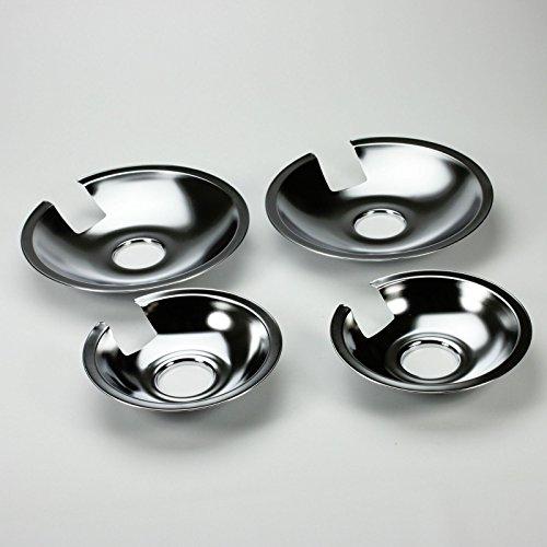 KHY (4) PIECE SET Chrome Drip Pan Set (2) 715878 (2) 715877 FOR Many Jenn-Air Models. by KHY