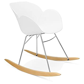 Mecedora diseño polipropileno silla de Edén (blanco): Amazon.es: Hogar