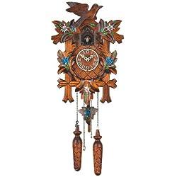 Quartz Cuckoo Clock 5-leaves, bird