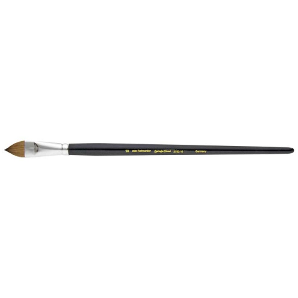 Springer Pinsel 2750 Oil Painting Brush with Pure Red Marten Hair, Tongues, Size 18, Multi-Color Springer Pinsel_2750-18