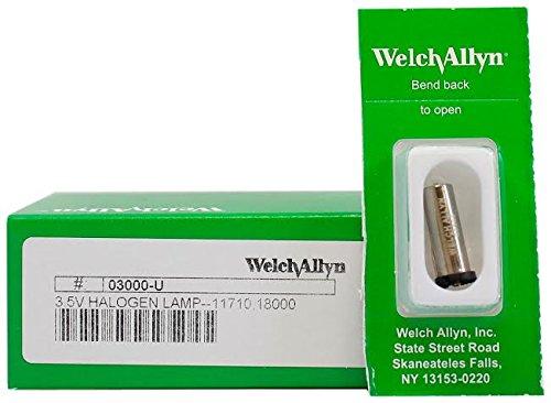 Otoscope Welch Allyn Bulbs (Welch Allyn 03000-U Halogen Replacement Lamp, 3.5V)