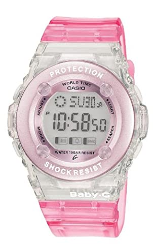 Casio BG-1302-4ER Ladies Baby-G Chronograph Pink Watch - Oro Grigio Dial