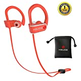 Image of Bluetooth Headphones,Wireless Sports Earphones Hbuds H1 with Mic IPX7 Waterproof Ergonomic Stable Fit In Ear Earbuds Noise Isolating Stereo Headset 9 Hour Working Time for Running Workout Gym (Orange)