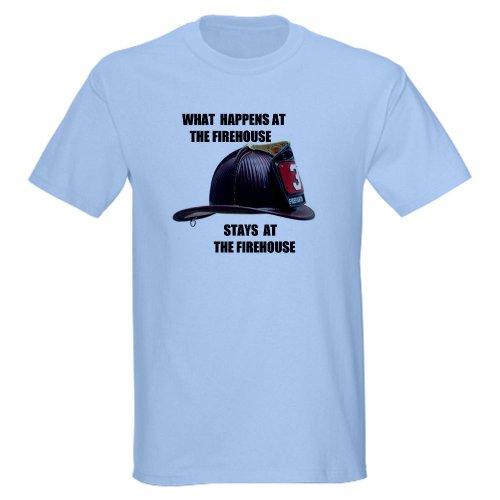 CafePress FIREHOUSE Light T-Shirt - L Light Blue