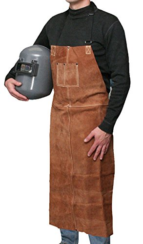 Bob Dale Gloves 601542 Welding Apron Leather Bib Apron 24x42 Brown,