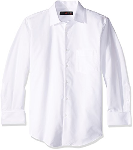 John Henry Camisa de Vestir para Hombre,  color Blanco,  15.5 x 32,  Mod: JV11B0003