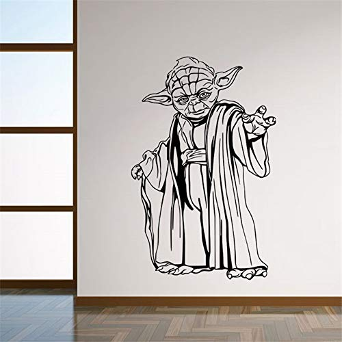 Quotes Vinyl Wall Art Decals Saying Words Removable Lettering Star Wars Yoda Characters Wall Stickers Poster 8559 Wall Art Decals for Kids Room Home Decoration (Pulp Fiction Star Wars Poster)