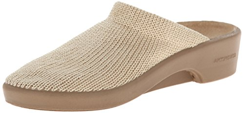 Arcopedico Women's Light Beige Clog/Mule 40 (US Women's 9) M Leather Mesh Mules