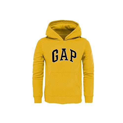 (GAP Boys' Pullover Hoodies Arch Logo (Yellow, X-Small (4-5)))