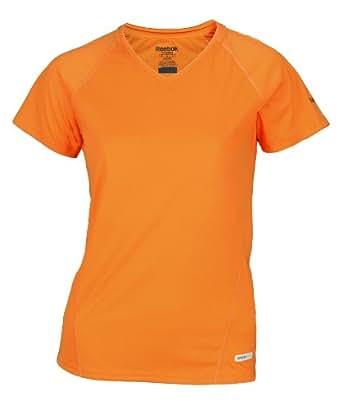Reebok SpeedWick Womens Athletic Fitted Tee (Small, Orange)