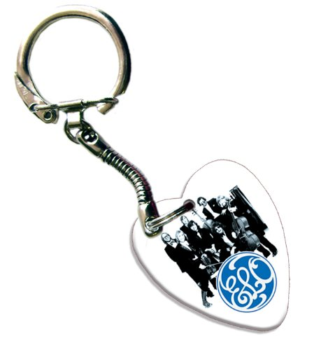 ELO Love Heart Gitarre Pick Schlüsselring Band Plektron