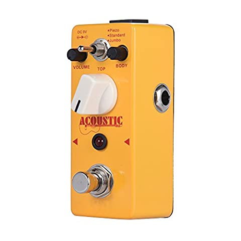 Getaria ACOUSTIC True Bypass Mini Portable Guitar Effects Pedal for Guitar Bass-Acoustic (Bass Guitar Volume Pedal)