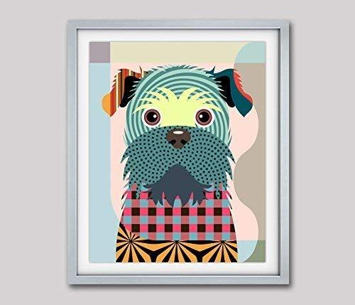 """Brussels Griffon Art Dog Pet Pop Art Giclée Print Painting-8"""" x 10"""", 11"""" x 14"""" (UNFRAMED)"""