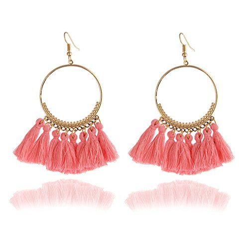 Women Statement Tassel Earrings Bohemian Multicolored Ethnic Drop Earrings e0101fen
