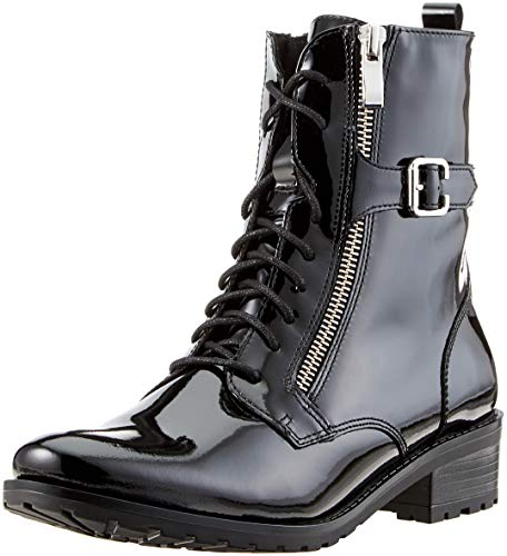 Donna Nero Caprice Combat Patent 18 25100 black Stivali wq774It