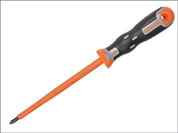 TEKNO + VDE Destornillador Pozidriv PZ 1 x 150 mm punta: Amazon.es ...