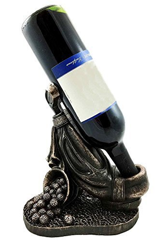 Ebros Professional Golf Cart Bag With Club and Practice Balls Golfer Wine Bottle Holder Figurine Great Present For Passionate Golf Fans ()