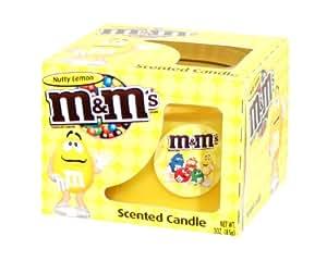 m&m's - Vela perfumada, 85 g, aroma de limón, color amarillo